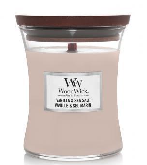WoodWick Jar mittel Vanilla & Sea Salt