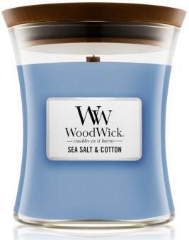 WoodWick Jar mittel Sea Salt & Cotton