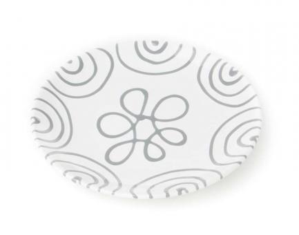 Gmundner Keramik Graugeflammt Teller/Dessert Cup