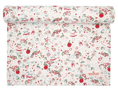 Greengate Tischläufer Carol white 45x140 cm