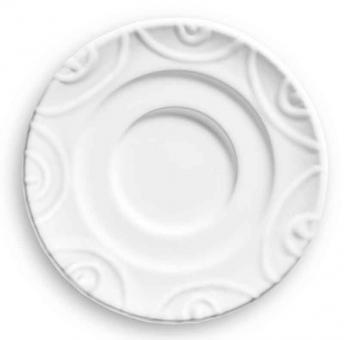 Gmundner Keramik Weißgeflammt Unterteller Espresso Gour. 11 cm