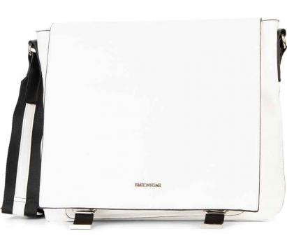 Meier Lederwaren Handtasche mit Überschlag groß Luna white