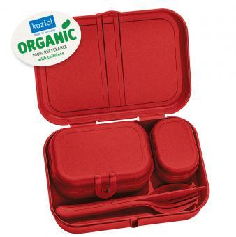 Koziol Lunbox-Set + Besteck-Set Pascal Ready Xmas 2020 organic red