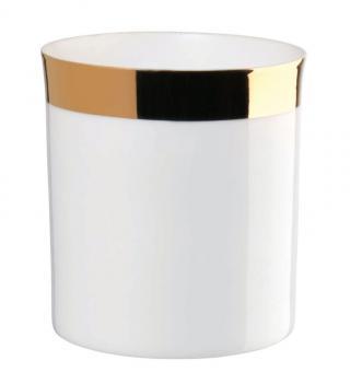 ASA Selection Windlicht Zylindrisch mit Goldrand Ø 8 cm H 9 cm Porzellan