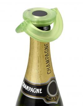 AdHoc Sekt-und Champagnerverschluss Gusto grün Kunststoff/Silikon Ø 8,2 cm
