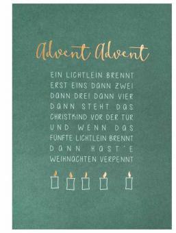 Räder Weihnachtspostkarte Advent Advent