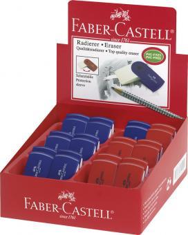 Faber-Castell Radierer Sleeve Mini rot/blau