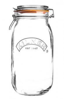 Kilner Bügelverschlussglas rund 1,5 L. , 13,5x11x23 cm