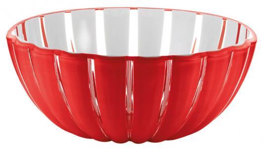 Guzzini Grace Schüssel Ø 30 cm 4,9 L rot transparent H 11,5 cm