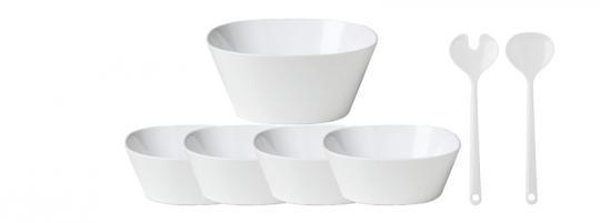 Mepal Jubiläums-Salatset Conix 6-teilig weiß
