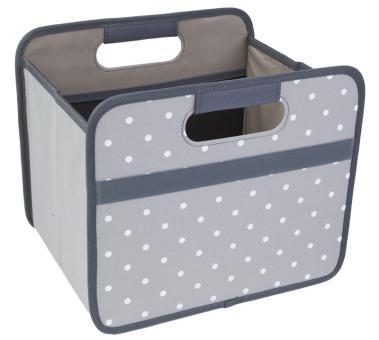 Meori Faltbox 15 L Classic Small Stein Grau/Punkte