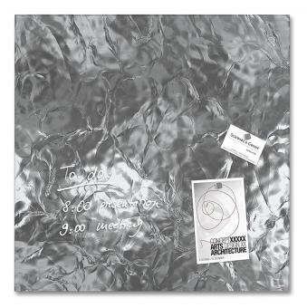 Sigel Glas-Magnetboard artverum 480x480x15 mm Design Shiny-Silver