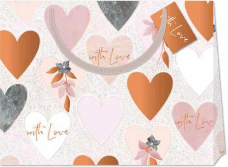 chic.mic Geschenktüte XL Modern Macrame Hearts
