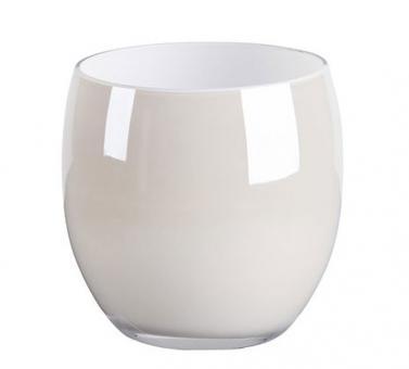 Gift Company Pearl Windlicht Glas H 12 cm weiß