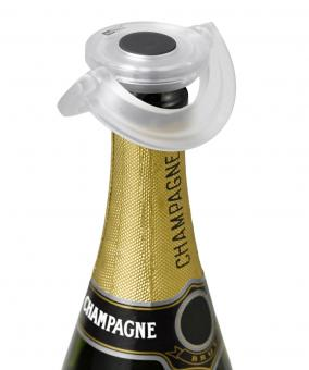 AdHoc Sekt-und Champagnerverschluss Gusto Klar Kunststoff/Silikon Ø 8,2 cm