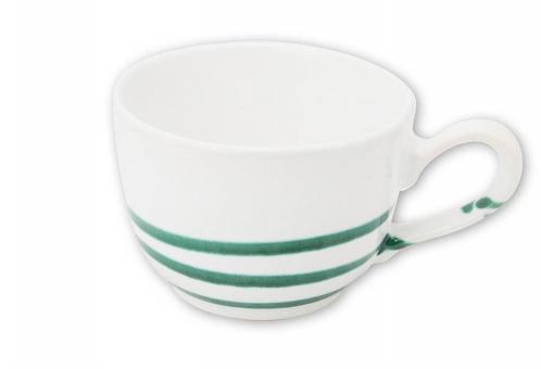 Gmundner Keramik Pur Geflammt Grün Kaffeetasse Glatt 0,19 L