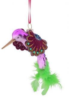 Gift Company Hänger Kolibri mit Federn pink/grün