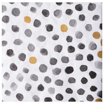 Räder Dining Mix & Match Serviette Punkte grau/gold 33x33 cm
