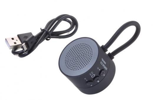 Troika Mini-Lautsprecher/Freisprecheinrichtung gummiert matt grau/schwarz