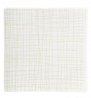 Rosenthal Selection Mesh Line Cream Teller quadratisch 22 flach