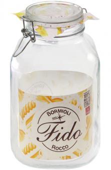 Einkochwelt Drahtbügelglas Fido quadratisch 2130 ml