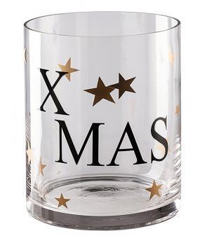 Hutschenreuther Merry Christmas Windlicht Groß Shiny Gold