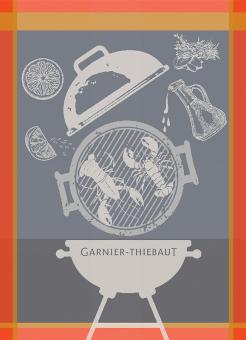 Garnier-Thiebaut Geschirrtuch Lobster Grill Charcoal 56 x77 cm