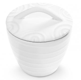 Gmundner Keramik Weißgeflammt, Zuckerdose Gourmet ø 9Cm