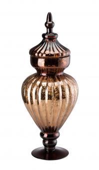 Hutschenreuther Winterromantik Glas Braun Pokal mit Deckel 45 cm