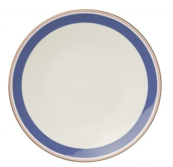 Dibbern Capri Teller 28 cm Blau / Rosé