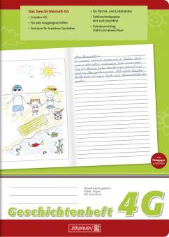 Brunnen Geschichtenheft A4 Lineatur 4G 16 Blatt