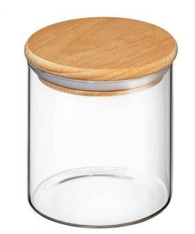 Zassenhaus Vorratsglas mit Holzdeckel 600 ml