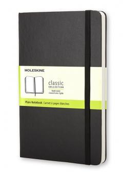 Moleskine Notizbuch L/A5 Blanko Hard Cover Schwarz