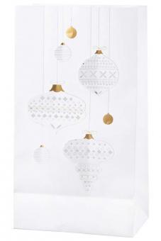 Räder Living Lichttüten 2er Set Weihnachtskugeln 15x9x27,5 cm