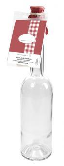 Einkochwelt Flasche Opera 350 ml mit Korken und Baking card