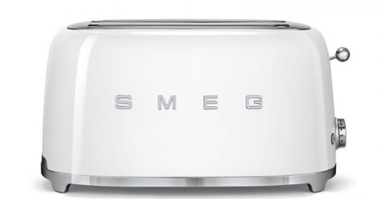 Smeg Toaster 2-Schlitz lang Weiß