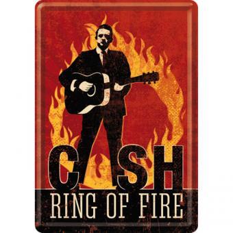 Nostalgic Art Blechpostkarte 10x14 cm Johnny Cash - Ring of Fire