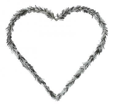 Gift Company Kranz Hey Herz 30x30 cm Perlen silber