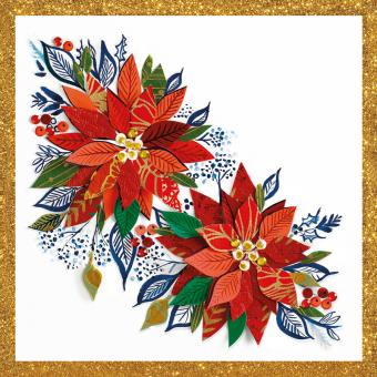 Paperproducts Design Servietten 33x33 cm Christmas Poinsettia Napkin