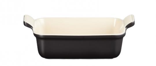 Le Creuset Auflaufform Tradition 19 cm Schwarz Glänzend