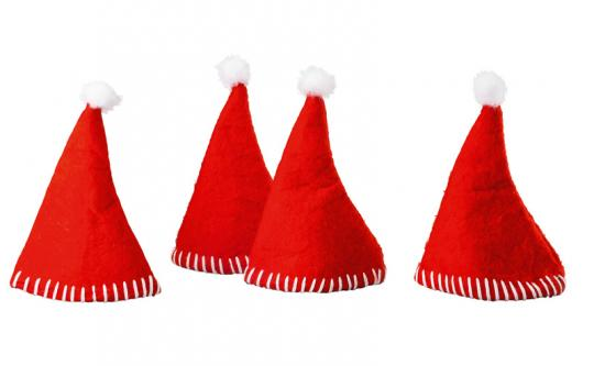 Hutschenreuther Little Christmastown Filz rot 4er Set Filzmützen