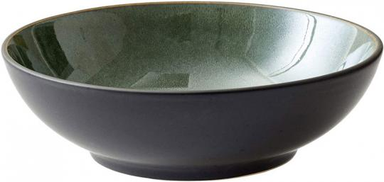 Bitz Salatschüssel 24 cm schwarz/grün