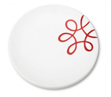 Gmundner Keramik Pur Geflammt Rot Dessertteller Cup 20 cm