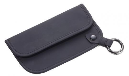 Troika Schlüsselanhänger mit Ausleseschutz für Funk-Autoschlüssel schwarz