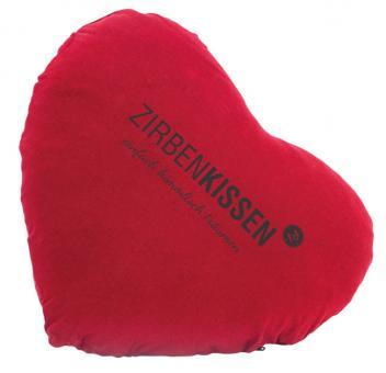 ZirbenFamilie Original Herz Zirben Kissen 40x40 cm