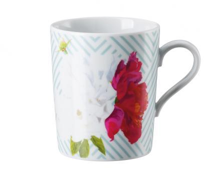 Arzberg Tric Vivid Bloom Becher mit Henkel Celadon Floral