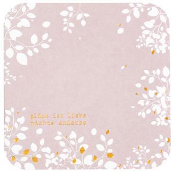 Räder Blütenpoesiekarte Glück Ist Liebe..., Rosa