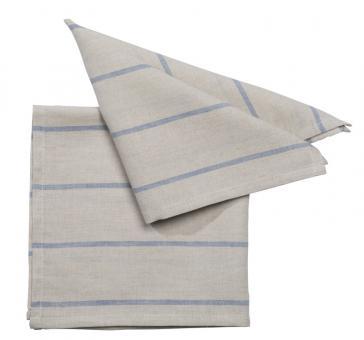 Pichler Serviette 40x40 cm Lincot blau