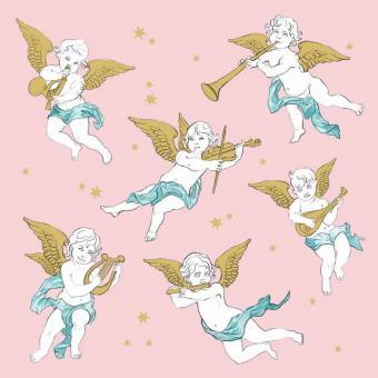 Paperproducts Design Servietten 33x33 cm Angels in the Sky rosé FSC