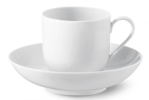 KPM Berlin Urbino Kaffee-Untertasse Hoch weiß